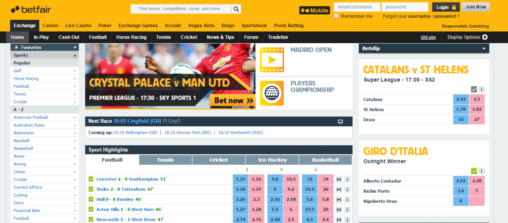 sports exchange betting